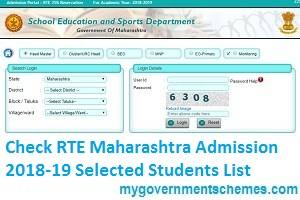 Check RTE Maharashtra Admission 2018-19 Selected Students List